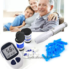 USA STOCK Blood Glucose Meter Monitor +50 FREE test strips Lancets Diabetes