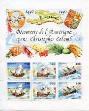 TIMBRE DE MONACO  BLOC N° 57 ** DECOUVERTE DE L'AMERIQUE PAR CHRISTOPHE COLOMB
