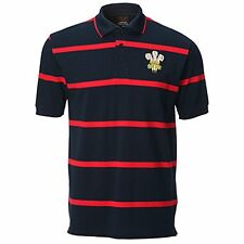 Mens Welsh Feathers Yarn Dyed Navy Polo Shirt