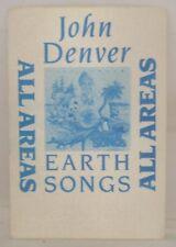 John Denver - Original Tour Concert Cloth Backstage Pass *Last One*