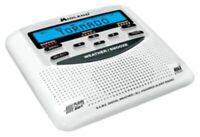 Midland GB0873 Weather Radio Same Area Hazard Alert Siren Backup, White