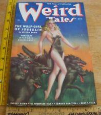 WEIRD TALES August 1938 pulp magazine HP Lovecraft Robert E Howard Brundage SEXY