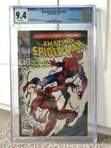 AMAZING SPIDER-MAN 361 CGC 9.4 - 1st Carnage (1st Print) NM Marvel Comics HOT 🔥