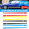 Universal Car Auto Long Stripe Decals Graphics Both Side Body Viny Wrap Stickers