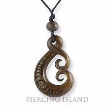 Maori Amulett Anhänger Bone Knochen Handarbeit Design PB366