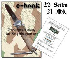 e-book - Fallschirmjäger Kappmesser, Reparaturanleitung, Gravity Knife, repair