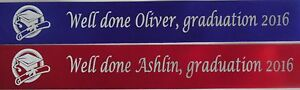 1M OF PERSONALISED GRADUATION RIBBON ANY WORDING 15MM, 25MM, 38MM & 50MM WIDTH