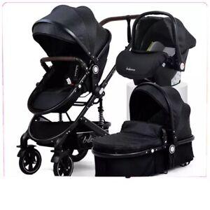 passeggino carrozzina per neonato leggero 3 in 1 reversibile portabicchieri