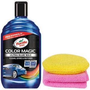 Turtle Wax Color Magic Car Polish Masks Scratches Dark Blue 500ml Cloth & Pad