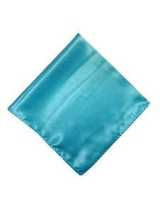Mens Solid Color Pocket Squares Wedding Handkerchiefs