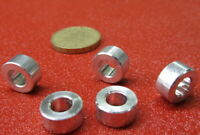"Aluminum Spacer 1//2/"" OD x .252/"" ID x 2 1//2/"" Length 2 Units 1//4/"" Screw NO"