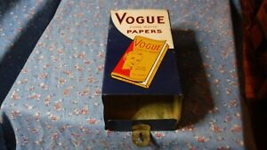 """Vintage Vogue Cigarette Papers Dispenser Pure White Papers  Back 7 1/8"""" High"""