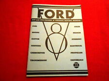 Ford Engine & Chassis Repair Manual V8 Service 1937 & 1938 TROG