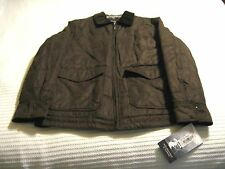 Roundtree & Yorke Micro-Suede Water Resistant William Hawk Brown Jacket Size: L