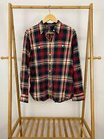LRL Lauren Jeans Co Women's Plaid Check Button Front Long Sleeve Shirt Size XL