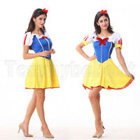 Halloween Womens Fancy Dress Costume Fever Fairy Tale Fun Snow White Princess