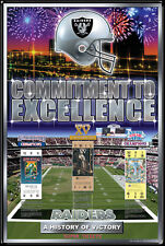 Oakland Raiders 3-TIME SUPER BOWL CHAMPIONS Official NFL History Poster