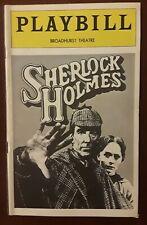 """SHERLOCK HOLMES ""- Broadhurst Theatre Playbill - Opening Night - November 1974"