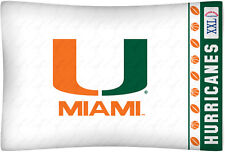 NEW Univ. of Miami Hurricanes Std. Knit Pillowcase