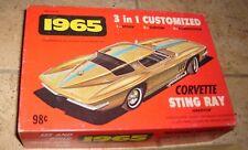 1965 CORVETTE STING RAY 3-1 CUSTOMIZED MODEL KIT BOX PARTS INSTRUCTIONS PLAMER
