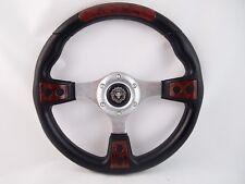 "Marine Boat BURL WOOD Steering wheel W/ 3/4"" tapered key Adapter 3 spoke"