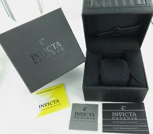 .INVICTA RESERVE MENS WATCH DISPLAY BOX + BOOKLETS / WARRANTY + OUTER.