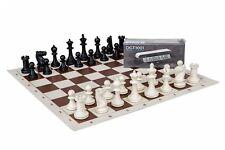 Chess Set Staunton, Vinyl chessboard and digital chess clock - DGT 1001 Black