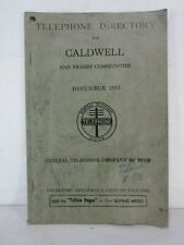 1953 Caldwell Oh. Telephone Directory