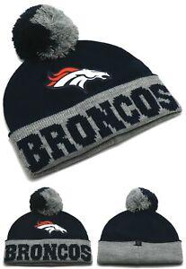 Denver Broncos New Touch By Alyssa Women Ladies Blue Gray Era Knit Beanie Cap