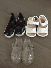 Lot of 3 Pairs Baby Toddler Girl Shoes Jelly Sandals BC Footwear GAP SIZE 5