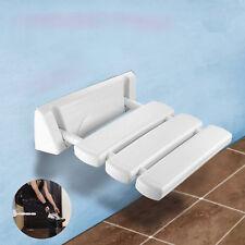 DUSCHSITZ DUSCHKLAPPSITZ Sitz Klappsitz Duschhilfe Wand weiß bis 130kg