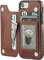 """New iPhone 7 / 8 Case Leather Wallet Cover Magnetic KickStand for Apple 4.7"""""""