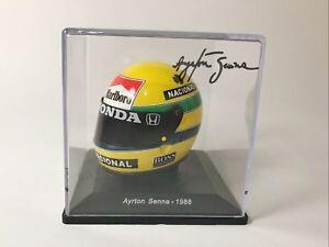 Calcas casco Ayrton Senna 1988 escala 1:5 de Spark