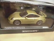 Porsche 911 gt3 RS 991.1 Coupe 2015-16 verde Green 1:87 Minichamps