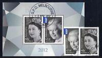 2012 Australia QE II Jubilee SG 3756/8 fine used set + MS
