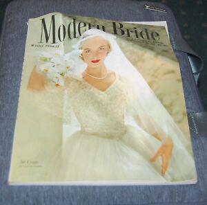 Winter 1950 issue of Modern Bride Magazine fashions, etiquette