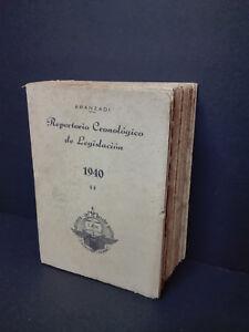 ARANZADI Repertorio Cronologico de Legislacion 1940 - 1ª Edicion, 1461 Paginas.