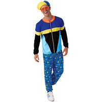 Adult Mens 90s Dancer Saved By The Bell Halloween Costume Jacket Pants Hat