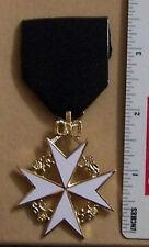 Masonic Mason Medieval Knight St. John Templar Order Jewel Case Box Medal Award