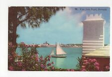 Bermuda, View from Paget 1960 Postcard, A555