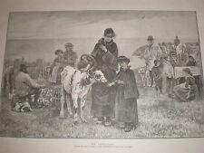 El huérfano de John Reid 1885 antiguos Becerro de impresión en mercado