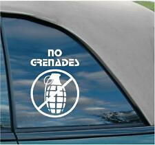 NO GRENADES say to Jersey Shore situation funny no fat chicks jdm decal sticker