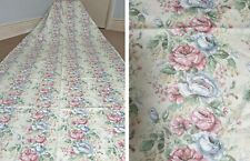 """Vintage Country Cottage Shabby Chic Floral Chintz Curtains & Ties 44""""w x 88""""L"""