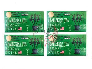 4 x 3 BALLERINA TEA SLIMMING TEA FOR DIET SLIM WEIGHT LOSS 18 TEA BAGS