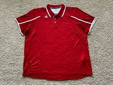 Adidas Climalite performance golf polo shirt men 3XL red