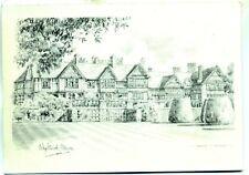 Whightwick Manor Arts & Crafts Wolverhampton Pencil sketch postcard KA Bromley