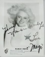 Margo Smith Country Star, Original Autographed B&W Photograph, White Sweater