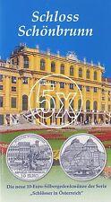 5x Österreich 10 Euro 2003 Silber Schloss Schönbrunn hgh im Blister
