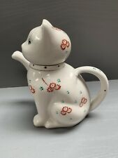 Novelty Collectable White Cat Teapot Size 6inch Tall