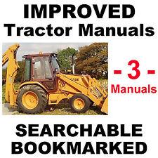 CASE 580D Super D 580SD Tractor SERVICE MANUAL, OWNERS & PARTS -3- MANUALS CD